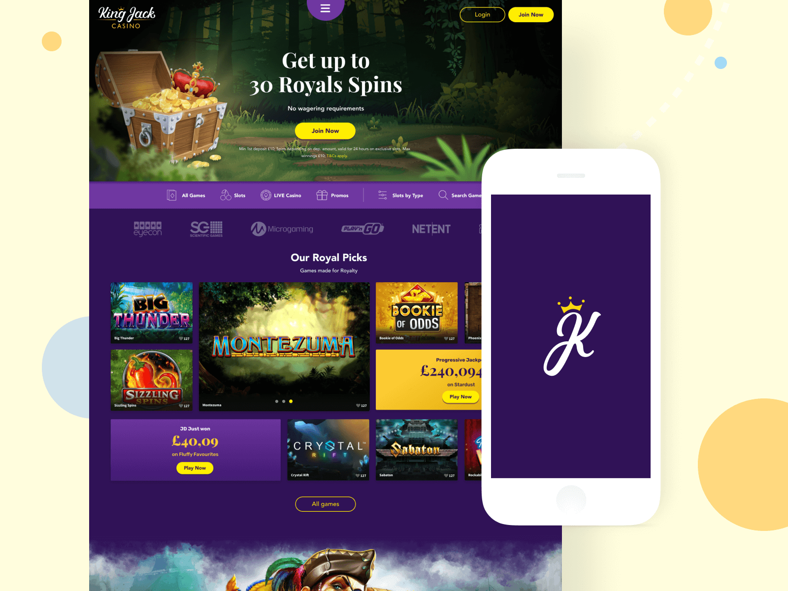UI King Jack Casino Revamp